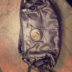 Gucci bronze metallic clutch